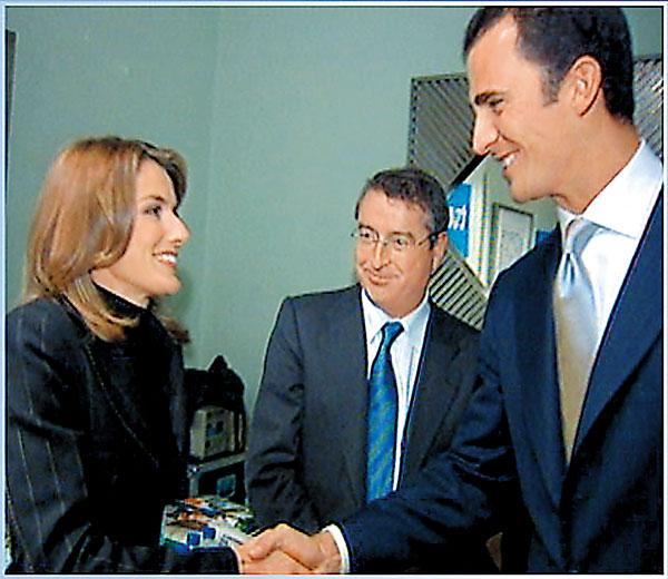 Príncipe Felipe y Letizia Ortiz