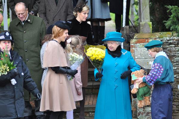 Isabel de Inglaterra en Sandringham