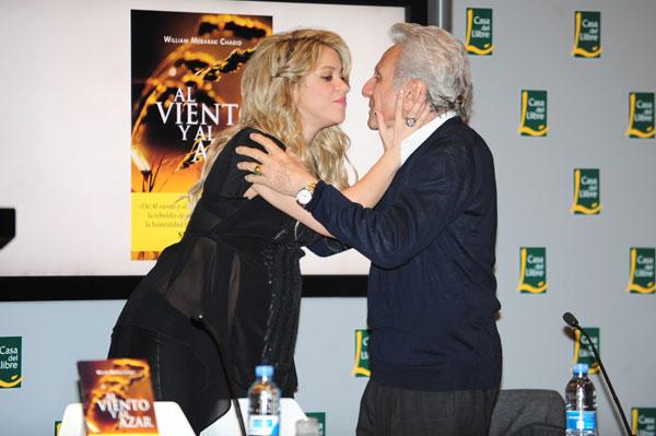 Shakira y su padre, William