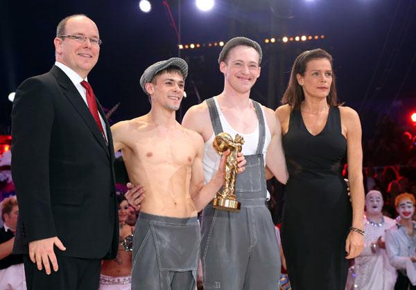 Alberto y Estefanía de Mónaco entregan el Payaso de Oro del festival Internacional del Circo