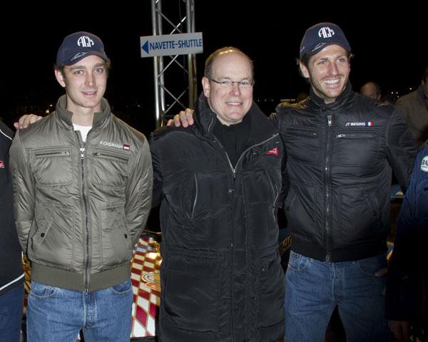 Alberto de Mínaco, Pierre casiraghi y Jean Thierry Besins