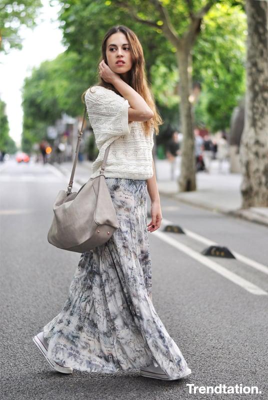 ab92432a7 Street Style: Faldas largas - Semana