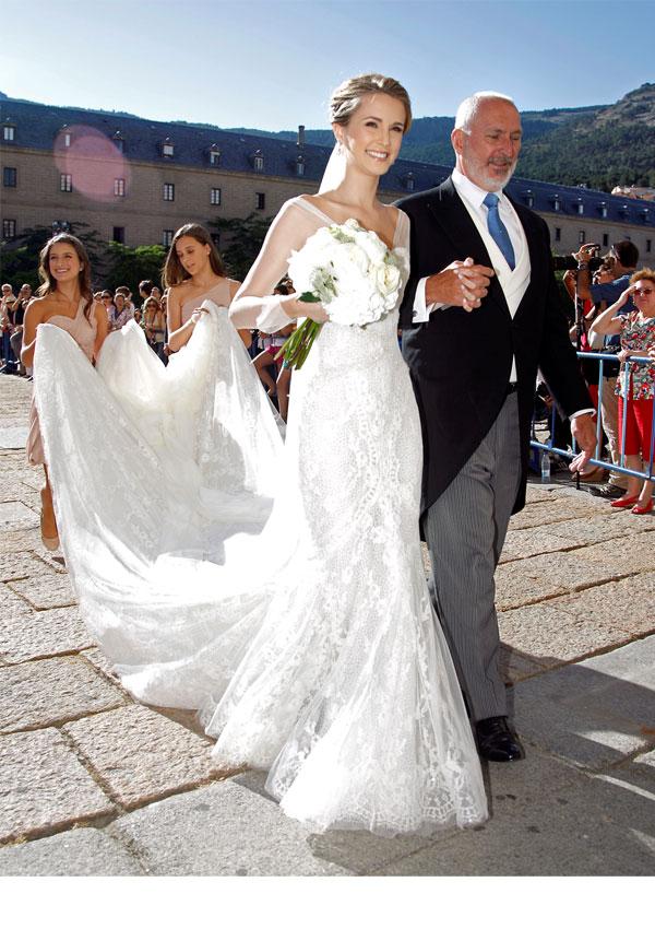 boda de carlos baute y astrid klisans en el escorial - semana