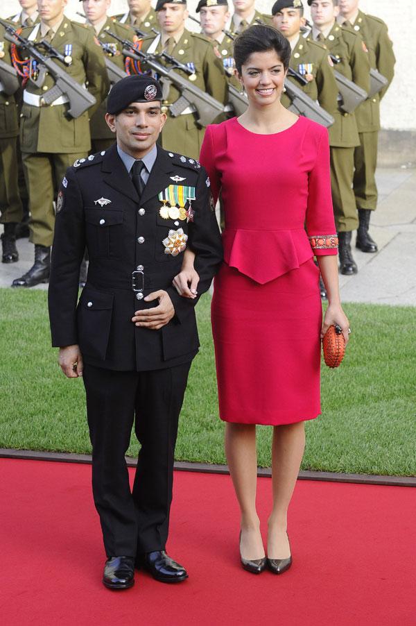 Los príncipes Rashid y Zeina de Jordania
