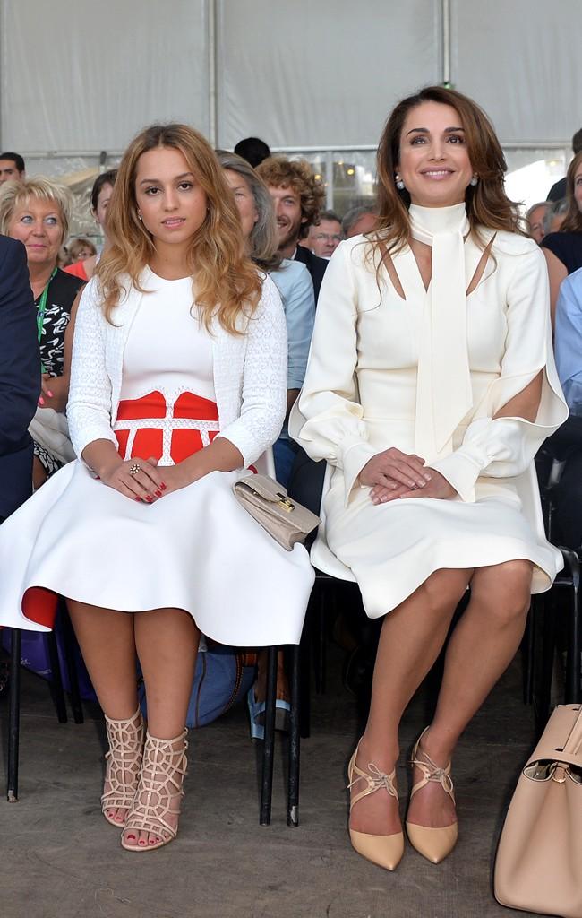 Imán y Rania fueron invitadas de honor de los empresarios franceses