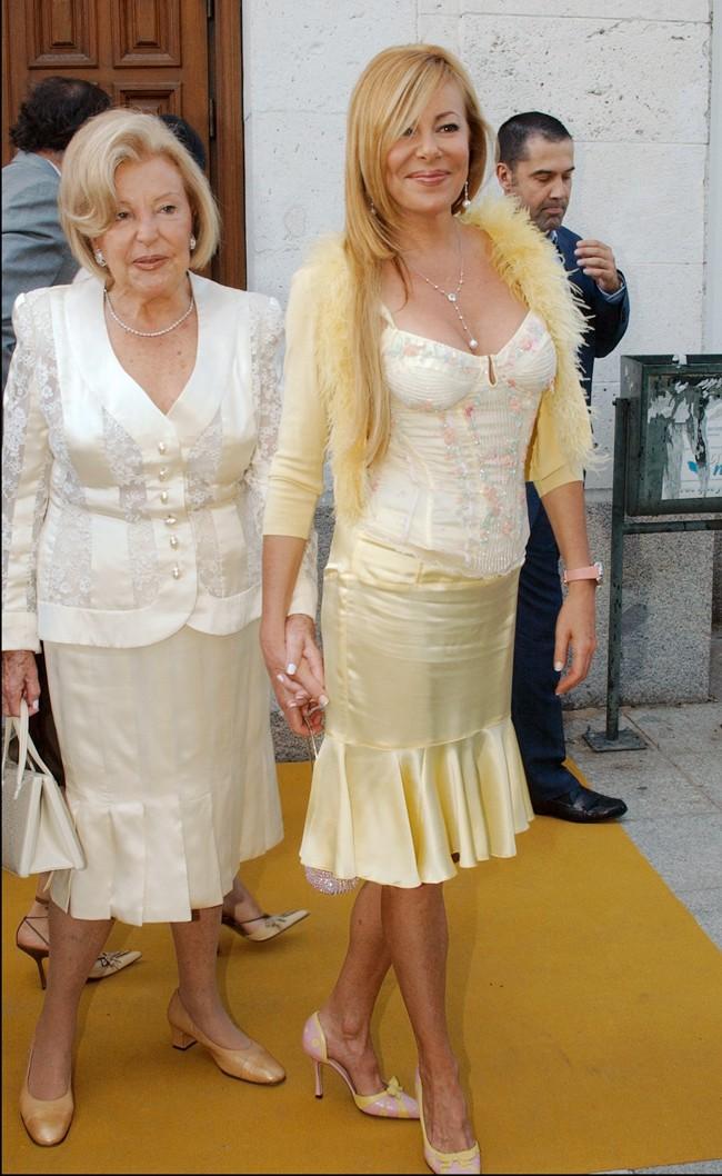 Ana Obregón con su madre, Ana María Obregón Navarro, a la que siempre ha estado muy unida.