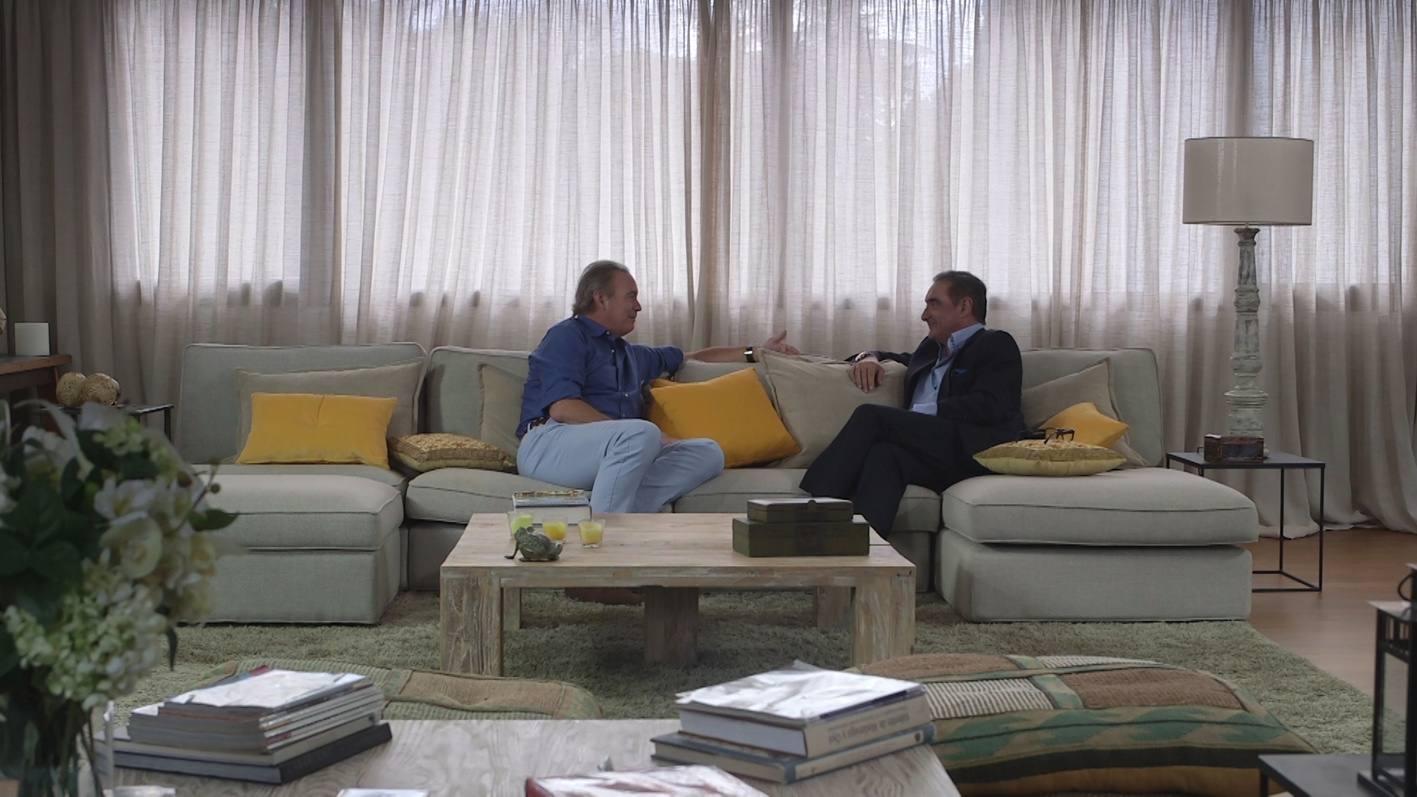 Herrera, charlando de su vida y su profesión con Bertín