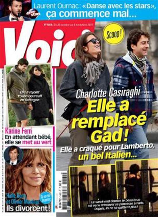 """La portada de la revista Voici que """"destapa"""" el supuesto romance entre la hija de la princesa y el director italiano"""