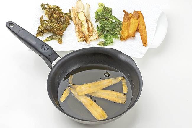 Medallones de cordero con fritura de verdura