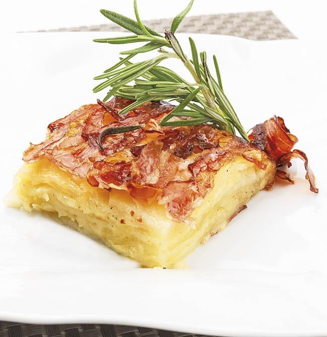 Torta de patata y bacon