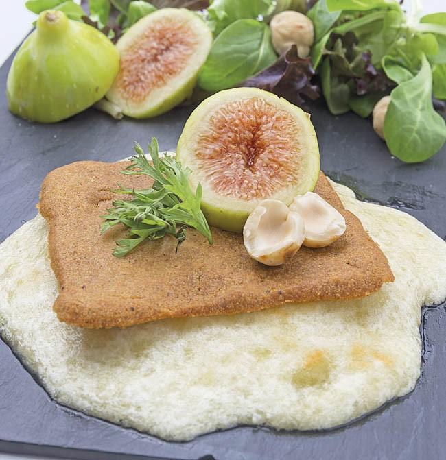 Ensalada de mousse de queso mahonés