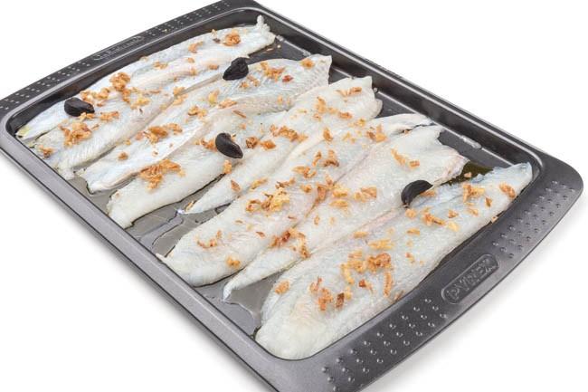Filetes de lenguado con pimientos