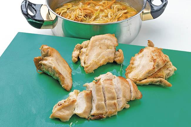 Pechugas de gallina escabechadas