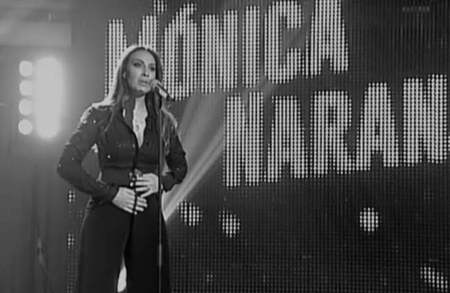 Mónica Naranjo durante su esperada actuación presentando en directo nuevos temas