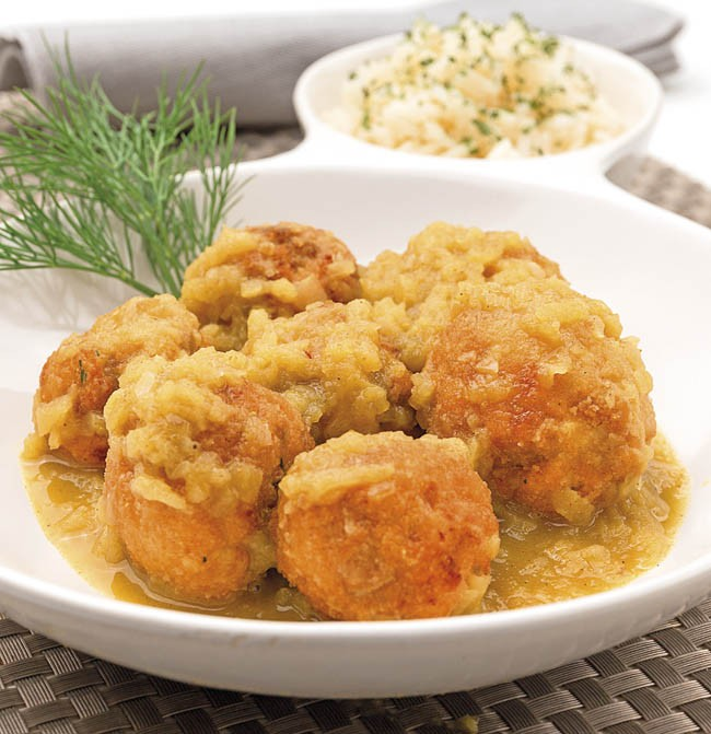 Albóndigas de salmón al curry