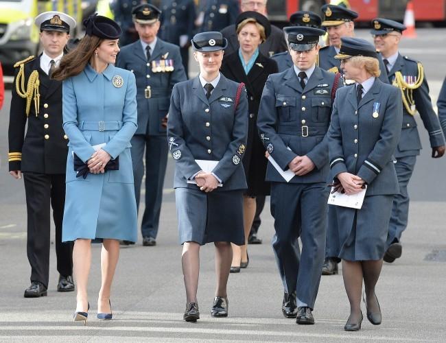 Kate, duquesa de Cambridge, en un acto oficial del ejército británico este fin de semana