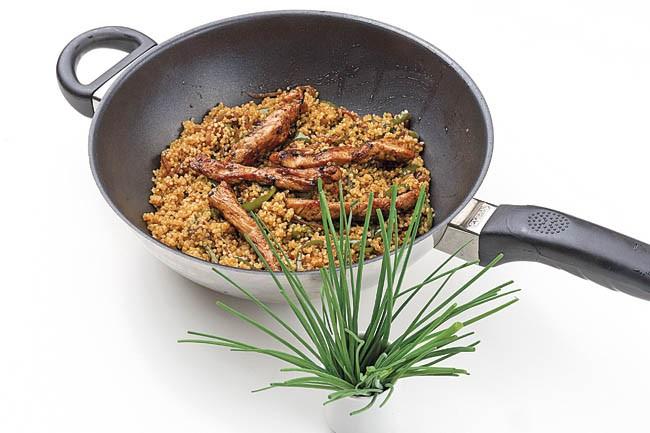 Quinoa en wok