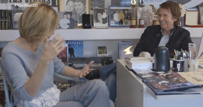 Susanna Griso junto a Raphael en casa del cantante