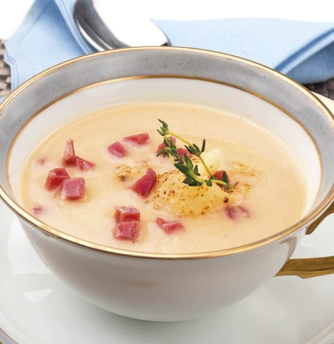 Sopa de queso Idiazábal