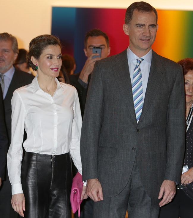 Reyes Felipe y Letizia Arco