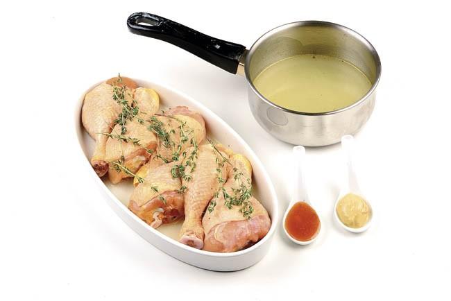 Muslos de pollo lacados con su salsa