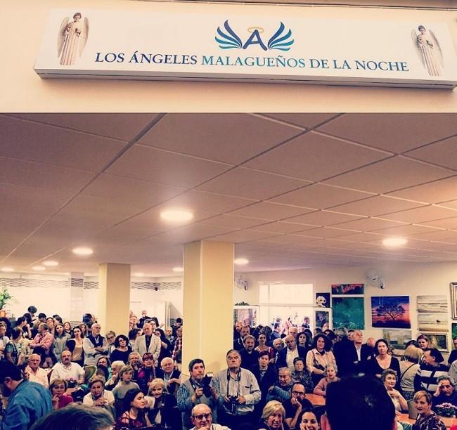 Foto publicada por Clara Lago en Instagram de la inauguración del comedor social de 'Los Ángeles de la Noche' de Málaga