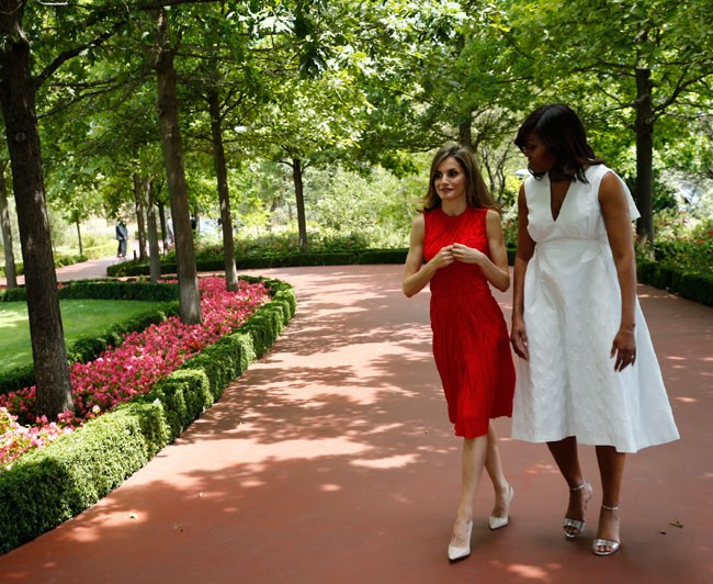 Letizia y Michelle Obama