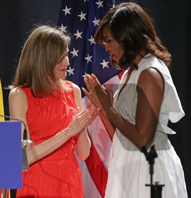 Reina Letizia y Michelle Obama