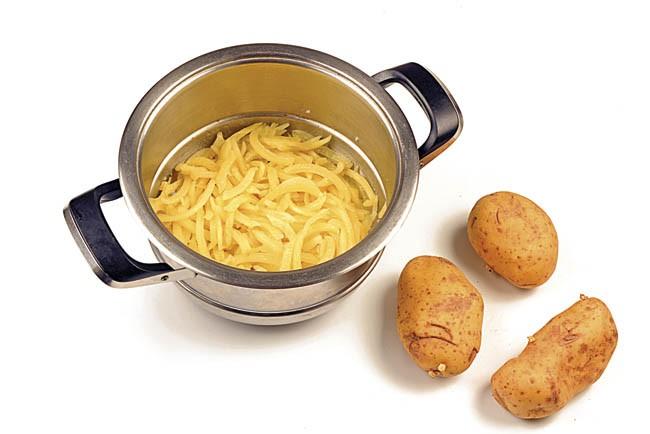 Borrajas con patatas al vapor