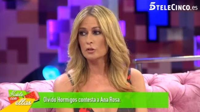 Olvido Hormigos contesta a Ana Rosa Quintana