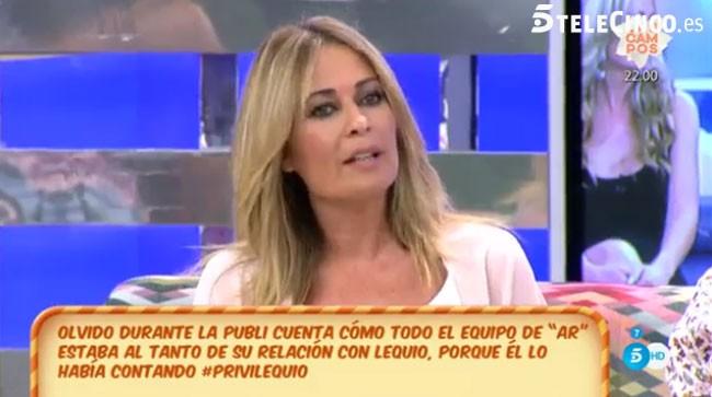 Olvido Hormigos vuelve de vacaciones y ataca a María Palacios