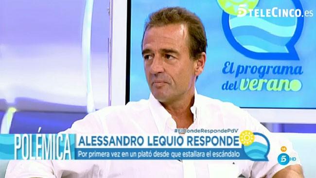 Alessandro Lequio: su firme respuesta a Olvido Hormigos y sus otras supuestas amantes