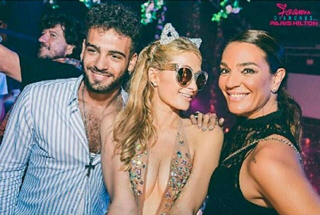 Raquel Bollo, de fiesta con Paris Hilton, su hijo, Kiko Rivera…