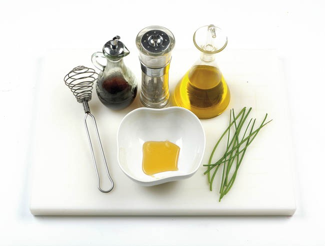 Ensalada de rábanos y remolacha con vinagreta