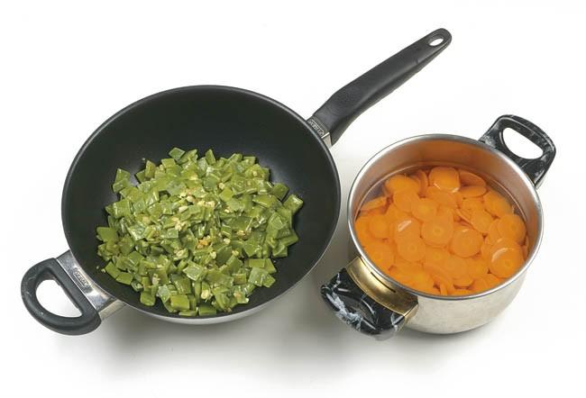 Flan frío de verduras