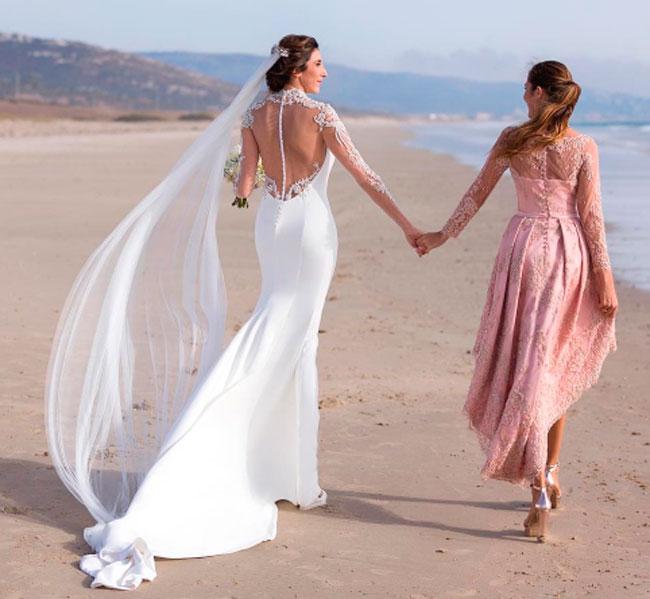 alejandro de miguel: el diseñador del vestido de novia de paz
