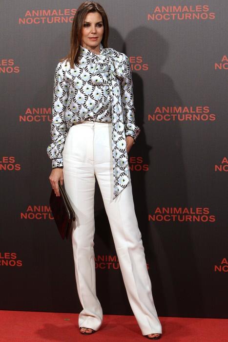 """La modelo Mar Flores durante la premiere de la película """" Animales nocturnos """" en Madrid. 17/11/2016"""