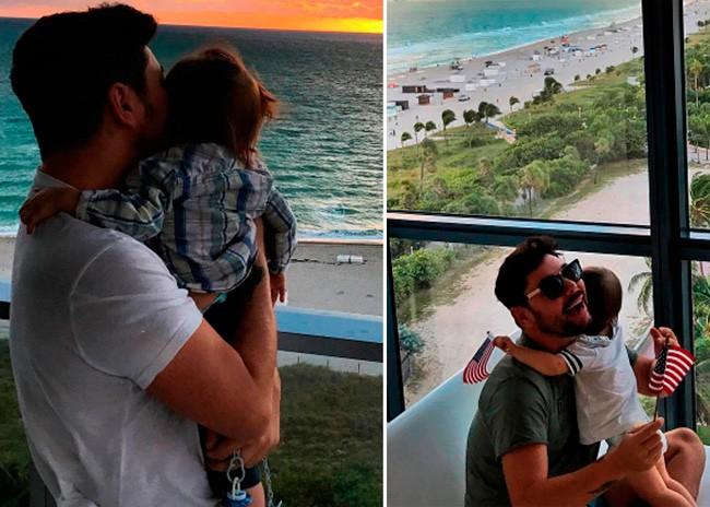 Miguel Poveda se escapa con su hijo Ángel a Miami
