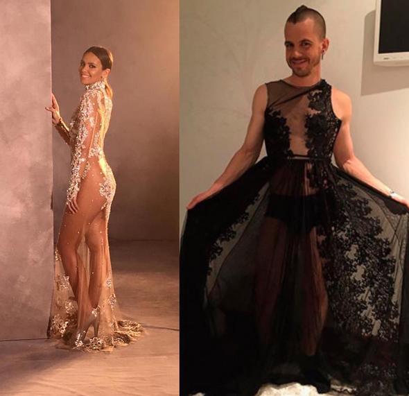 El pasado año también se puso el vestido de las primeras Campanadas de Pedroche.