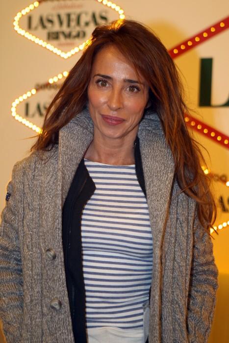 La periodista María Patiño durante un acto en el bingo Las Vegas de Madrid. 14/12/2016