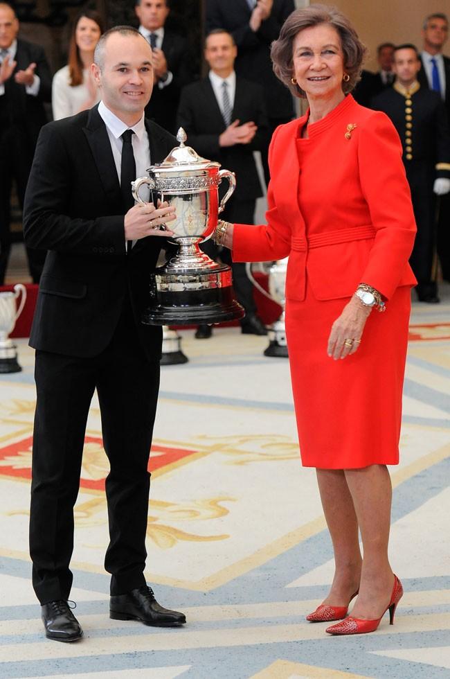 Reina Sofia y Andres Iniesta