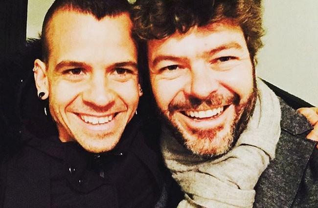 David Muñoz y Pablo Heras Casado, juntos apoyando a sus parejas