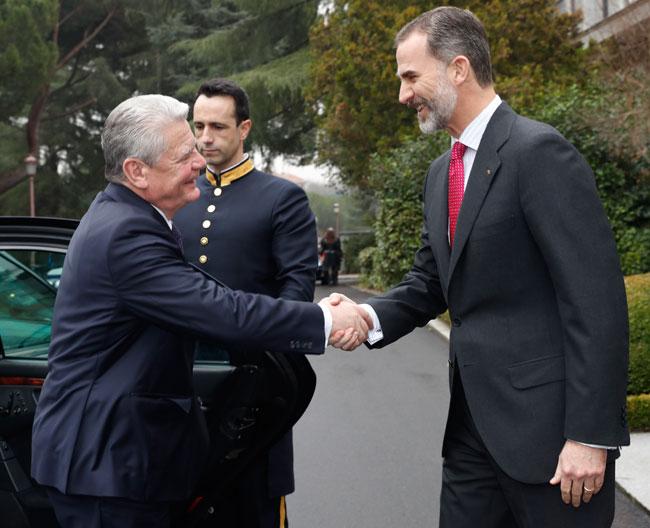 Rey Felipe y Joachim Glauck