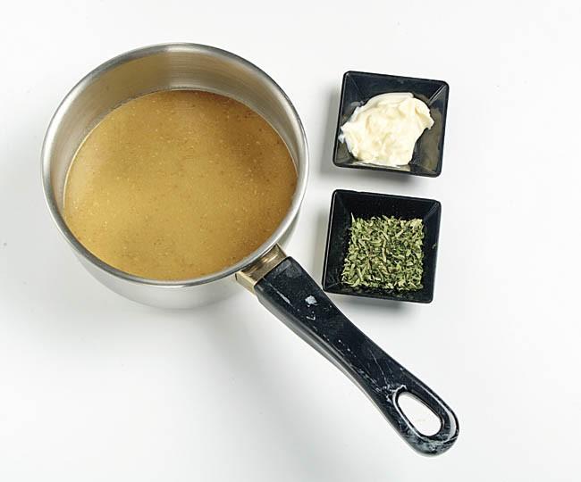 Crema fría de mejillones