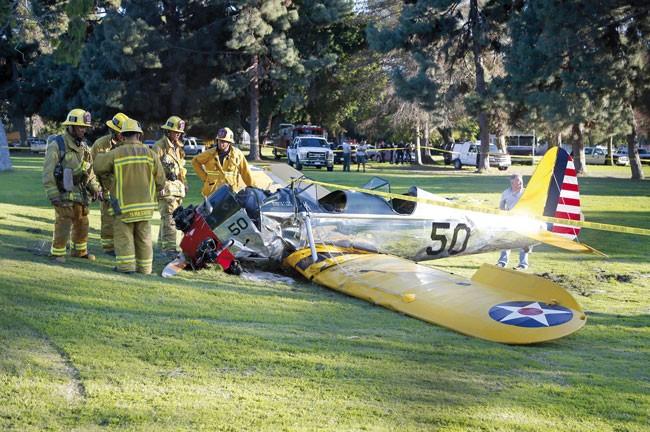 Es el cuarto incidente para el actor. La fotografía es de 2015 cuando estrelló su avioneta y tuvo que ser hospitalizado.