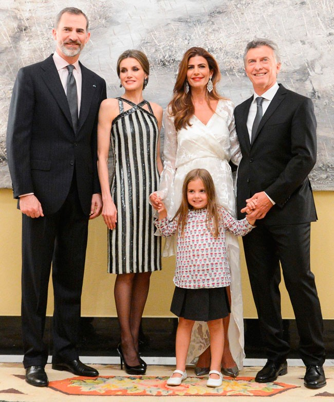 Reyes y familia presidente Argentina