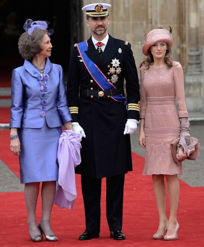 El 29 de abril de 2011, los Reyes y Doña Sofía fueron invitados a la boda de los duques de Cambridge.