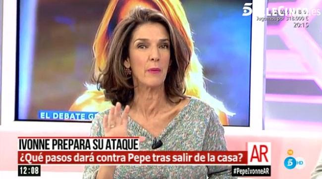 Este ha sido el momento en el que García Pelayo hacía pública la nueva estrategia de Ivonne.