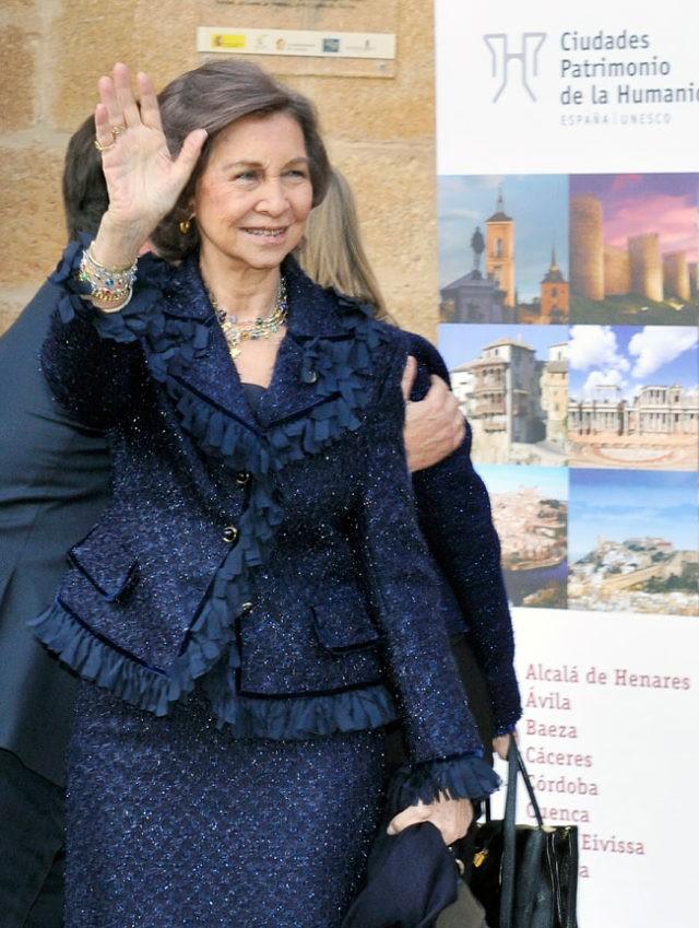 Королева София с рабочим визитом в Касересе