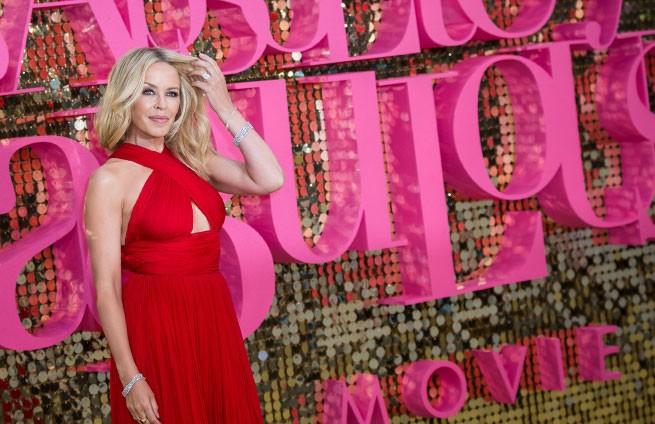Kylie Minogue en una presentación